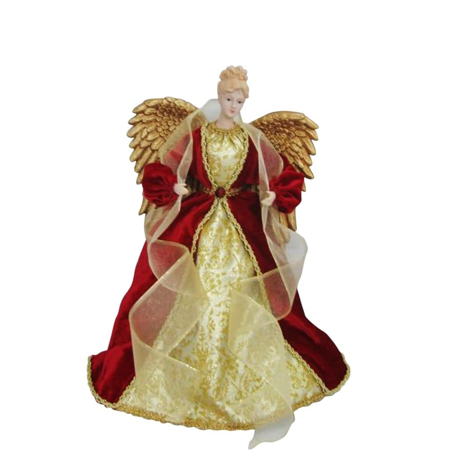 holiday living 16 in fabric angel christmas tree topper with lights - Angel Christmas Tree Topper