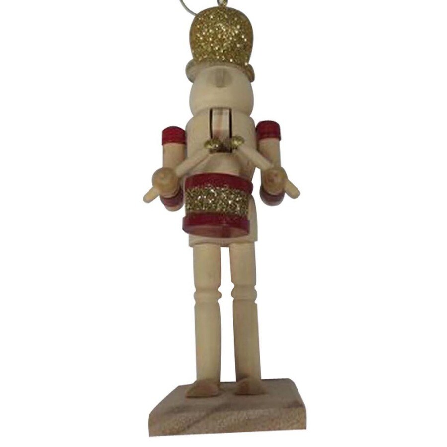 Holiday Living Natural Wood with Traditional Colors Nutcracker Ornament Lights