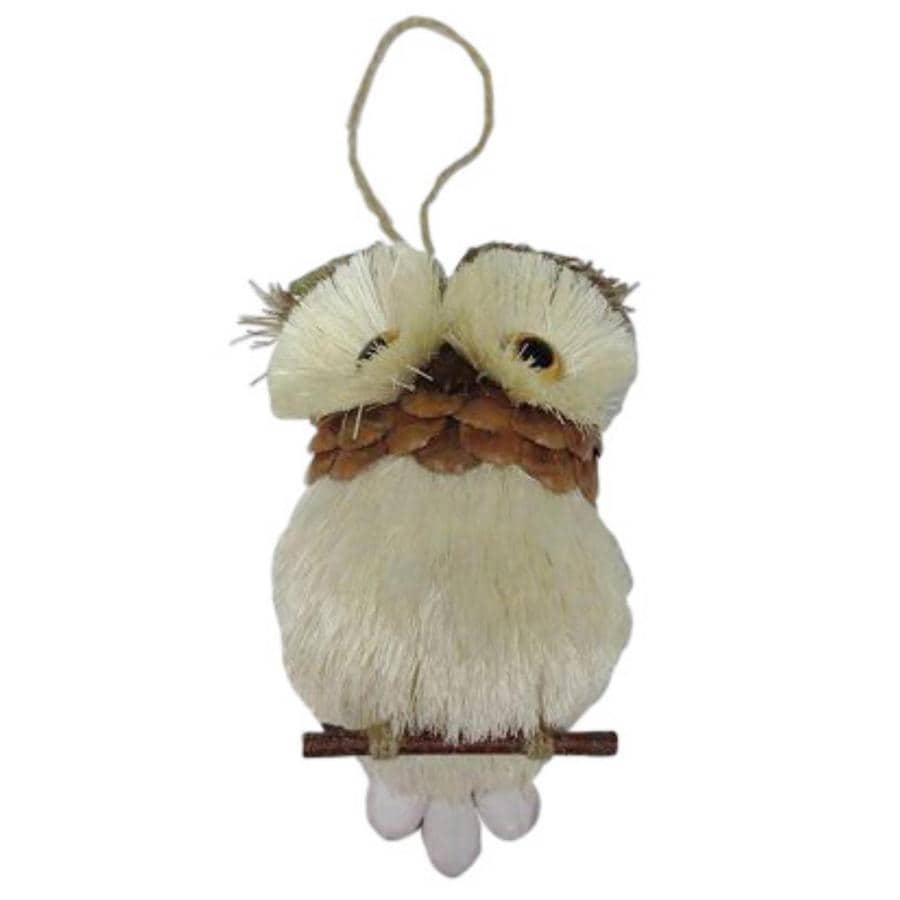Holiday Living Natural Brown and White Owl Ornament Lights
