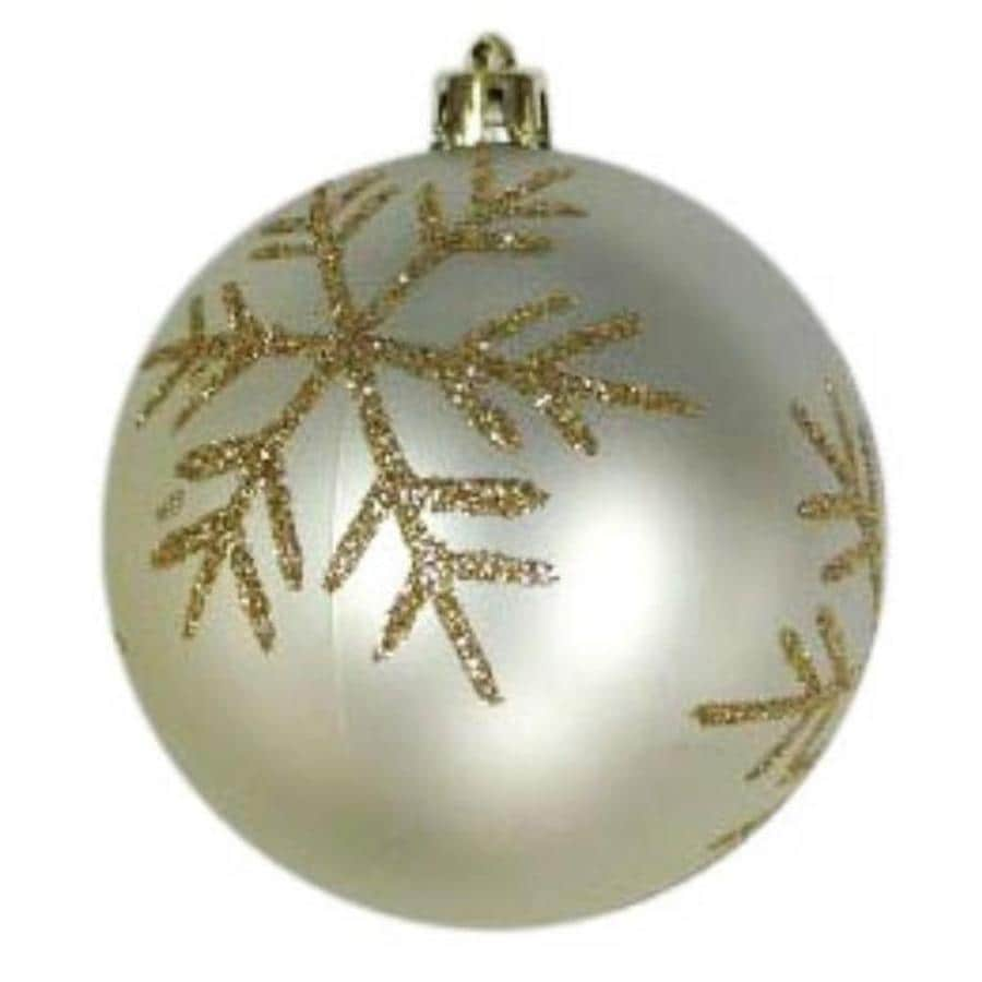 Holiday Living Silver with Gold Accents Snowflake Ornament Lights