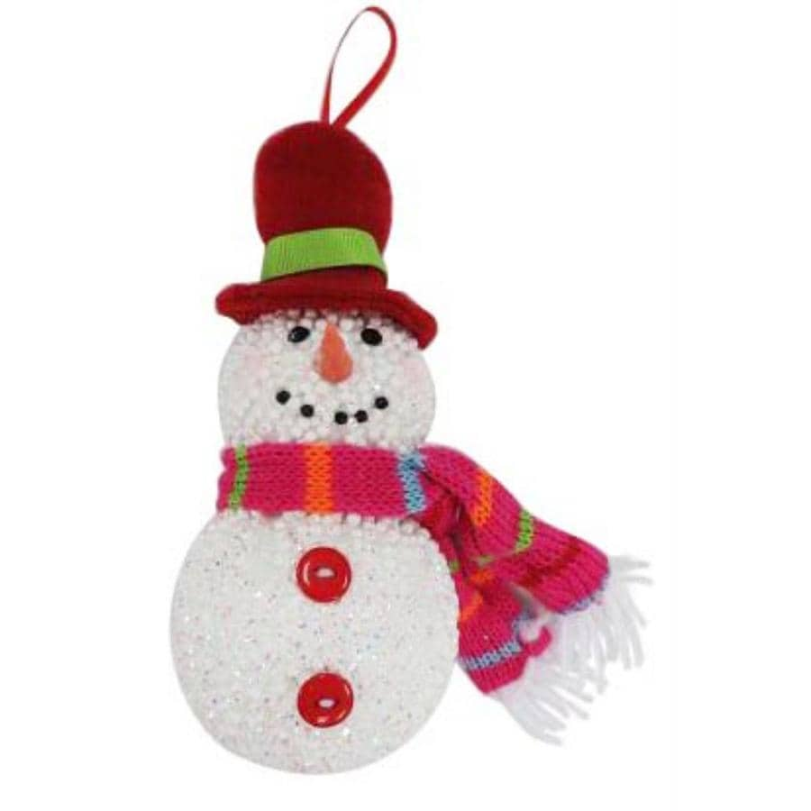 Holiday Living White with Festive Holiday Accents Snowman Ornament Lights