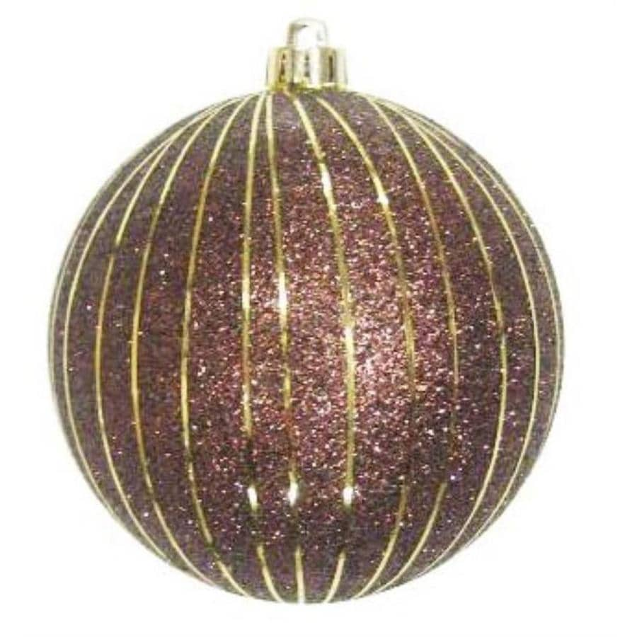 Holiday Living Elegant Brown with Gold Stripes Stripe Ornament Lights