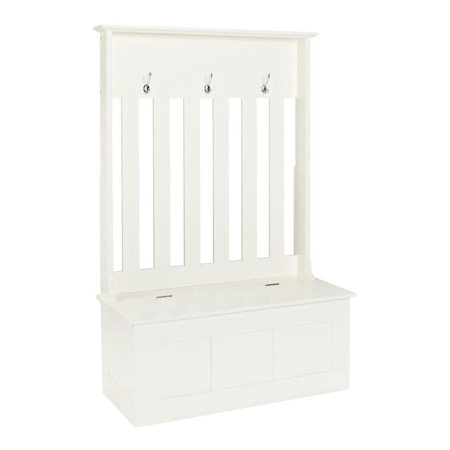 Crosley Furniture Ogden Casual White Hall Tree Bench At