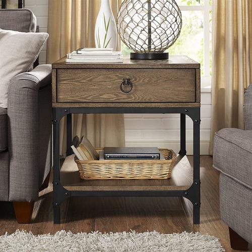 Crosley Furniture Trenton Rustic Coffee Wood End Table In The End Tables Department At Lowes Com