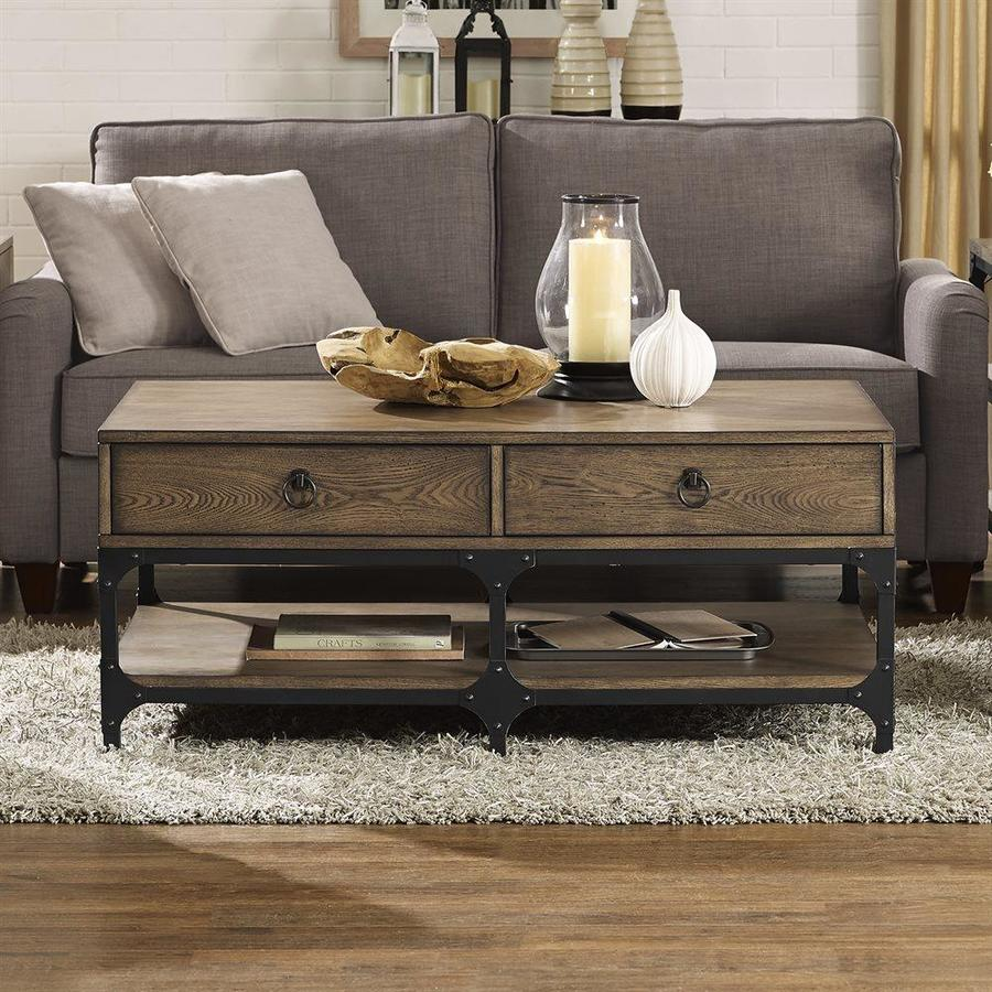 Crosley Furniture Trenton Rustic Coffee Wood Coffee Table