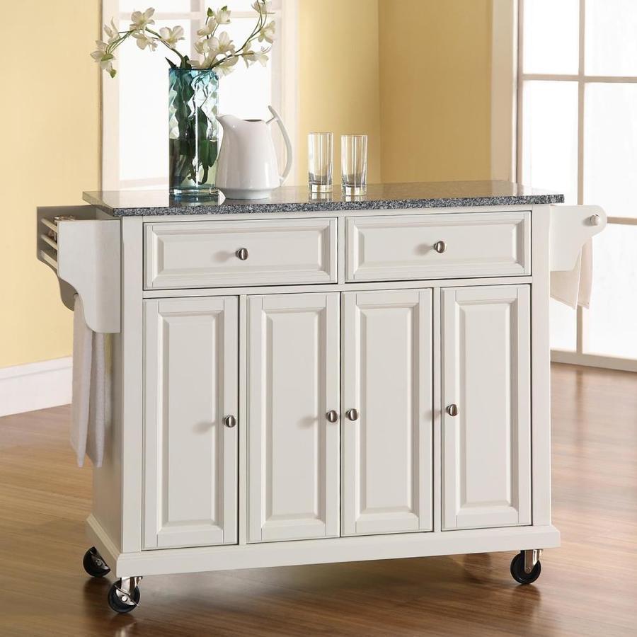 Crosley Furniture White Craftsman Kitchen Island At Lowes Com