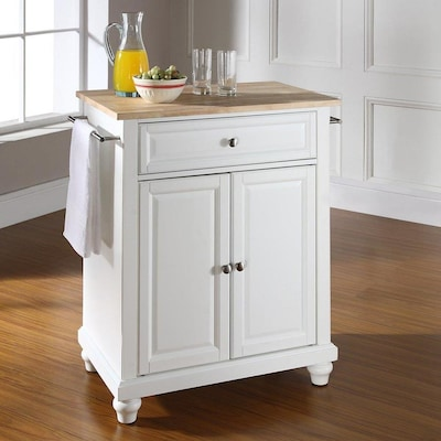White Craftsman Kitchen Island