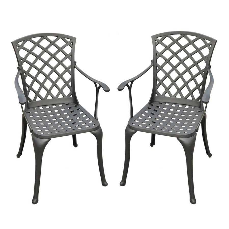 Crosley Furniture Sedona Set Of 2 Metal Stationary Dining Chairs With Woven Seat