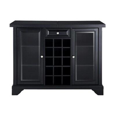 Crosley Furniture Lafayette 47 In X 36 Rubberwood Black