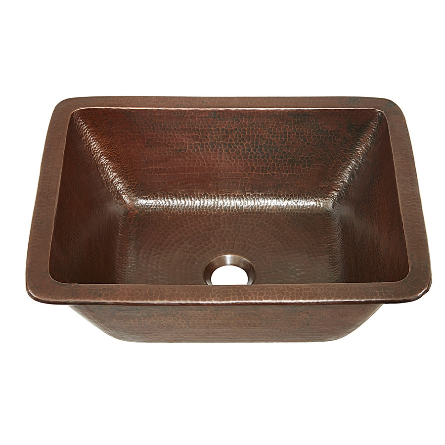 Shop sinkology aged copper copper drop in or undermount - Copper drop in kitchen sink ...