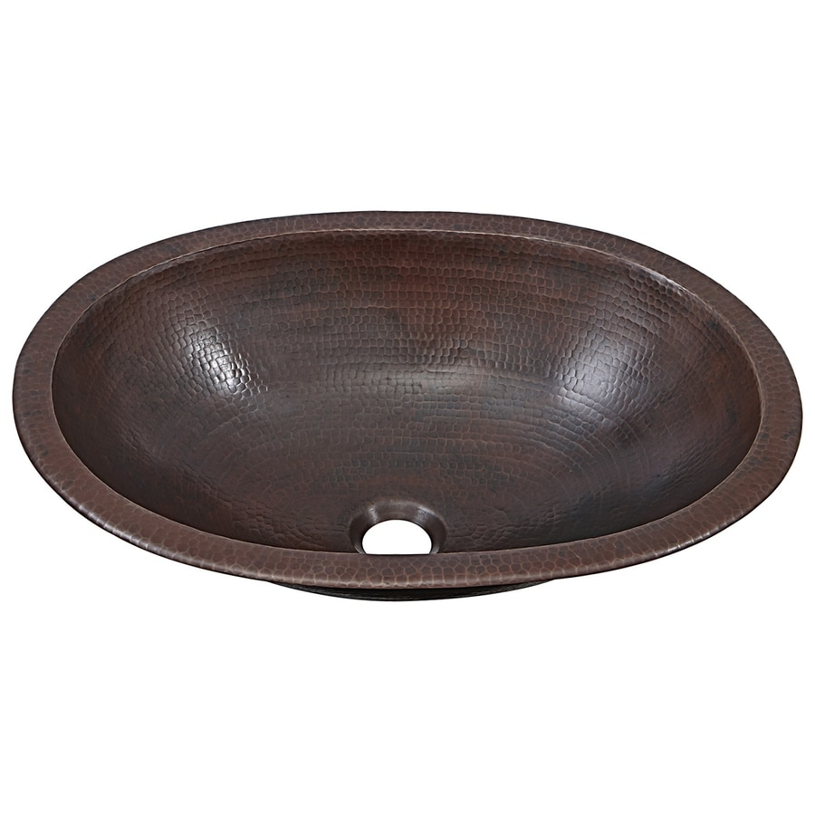 SINKOLOGY Aged Copper Copper Drop-in or Undermount Oval Bathroom Sink