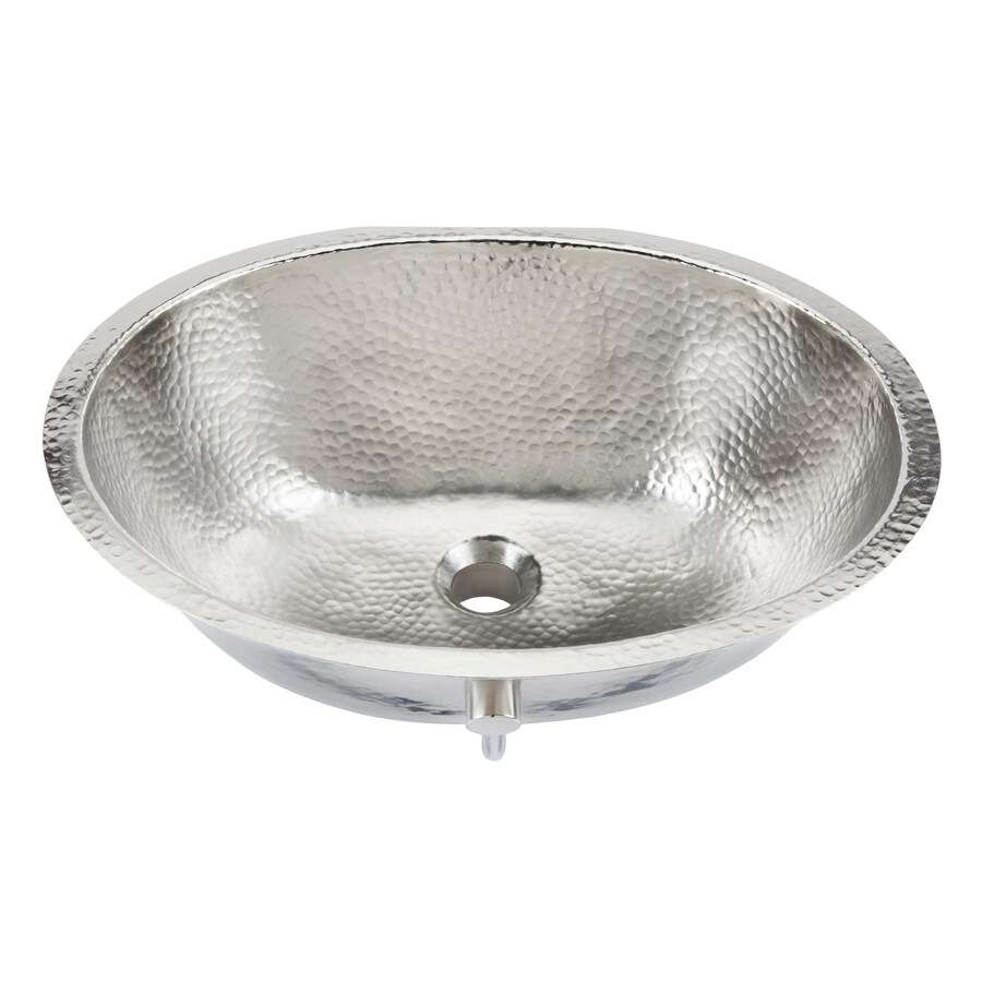 Shop Sinkology Nickel Undermount Oval Bathroom Sink At