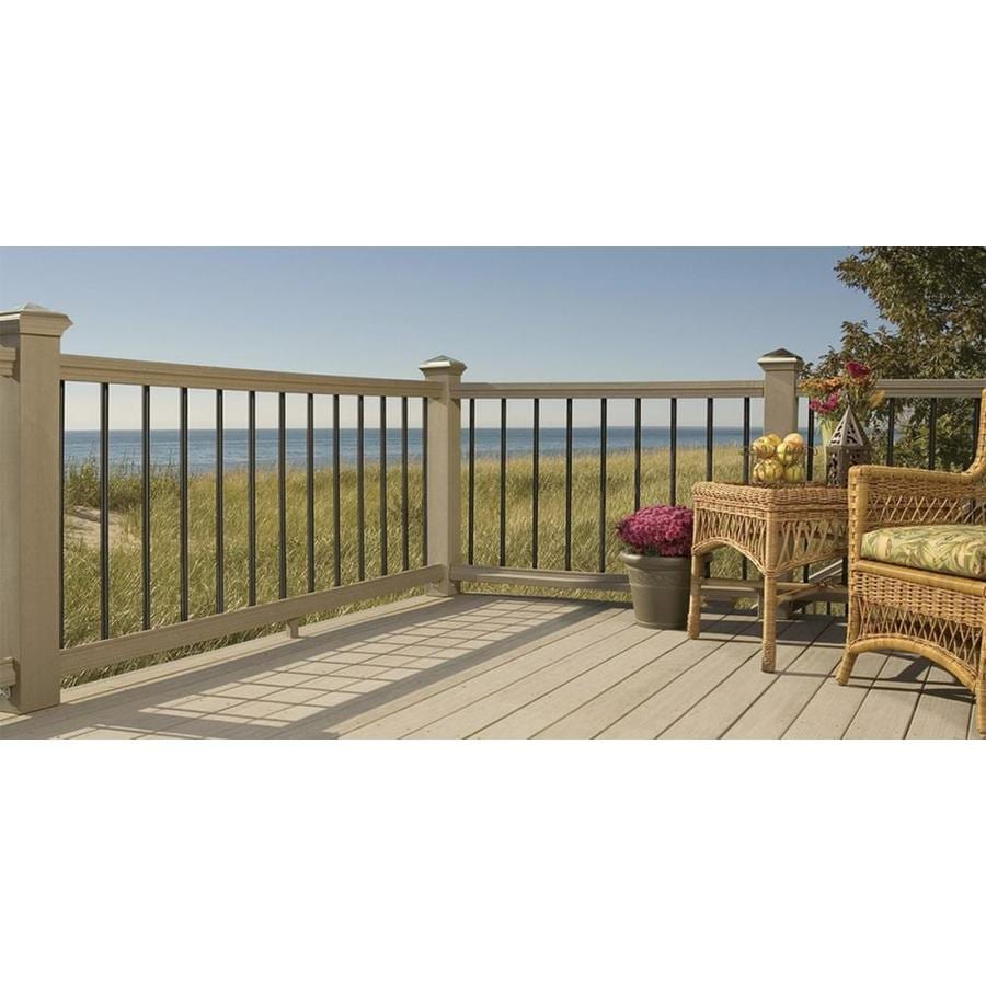 Deckorators (Actual: 0.75-in x 0.75-in x 32-in) Black Aluminum Deck Baluster