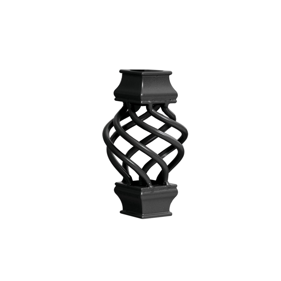 Deckorators Estate Black Aluminum Deck Baluster Basket