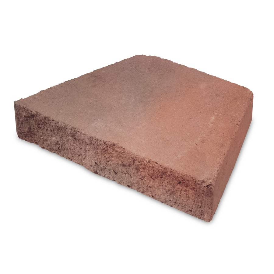 Red Charcoal Retaining Wall Cap (Common: 9-in x 12-in; Actual: 8.2-in x 12-in)