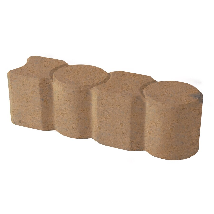 Tan Straight Edging Stone (Common 12-in x 3-in; Actual: 12-in x 3.1-in)