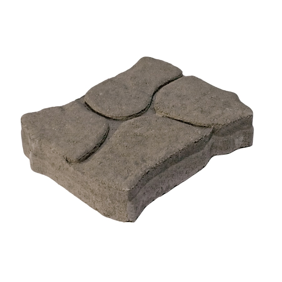 Tan/Char Interlocking Sections Patio Stone (Common: 11-in x 13-in; Actual: 11-in x 13-in)