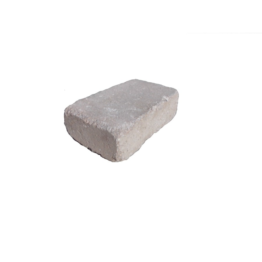 Tan/Char Retaining Wall Block (Common: 4-in x 12-in; Actual: 3.6-in x 11.6-in)