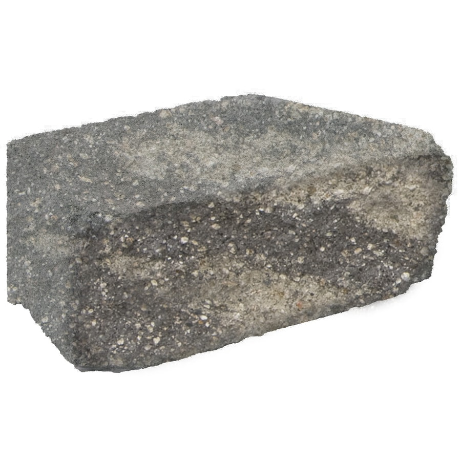 Grey/Char Retaining Wall Block (Common: 7-in x 12-in; Actual: 8.5-in x 11.7-in)