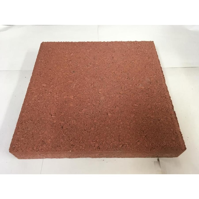 Patio Stone Red Concrete Patio Stone Common 12 In X 12