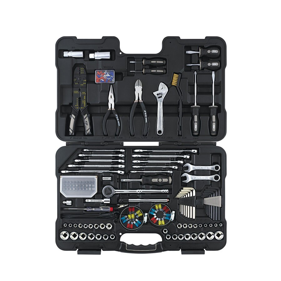 Blue Hawk Standard (SAE) Mechanic's Tool Set with Hard Case (185-Piece)