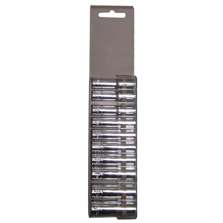 Blue Hawk 10-Piece Metric 1/4-in Drive 6-Point Socket Set