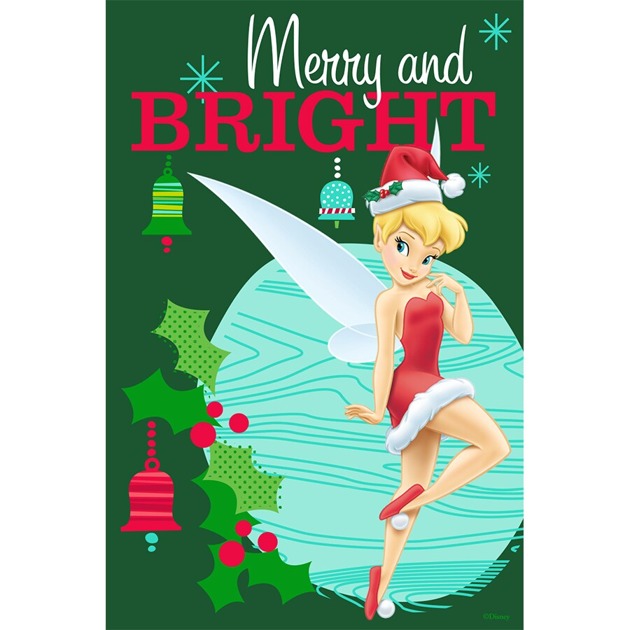 Disney Tinker Bell Merry Flag W/Stand
