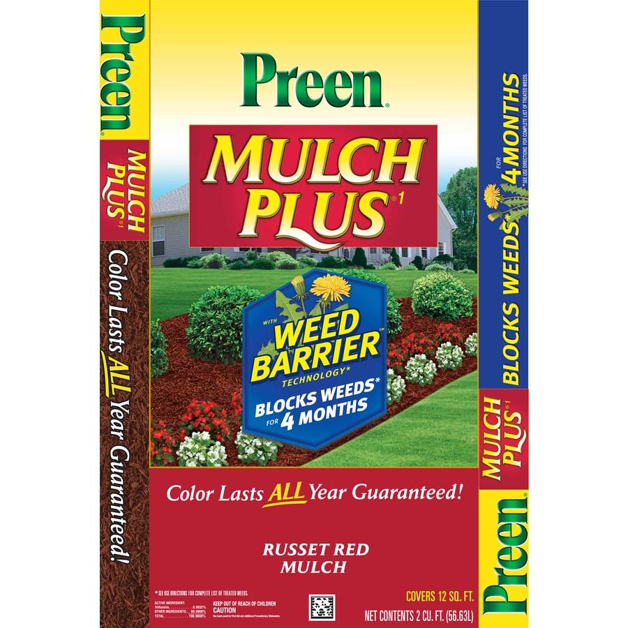 Preen 2-cu ft Red Shredded Mulch