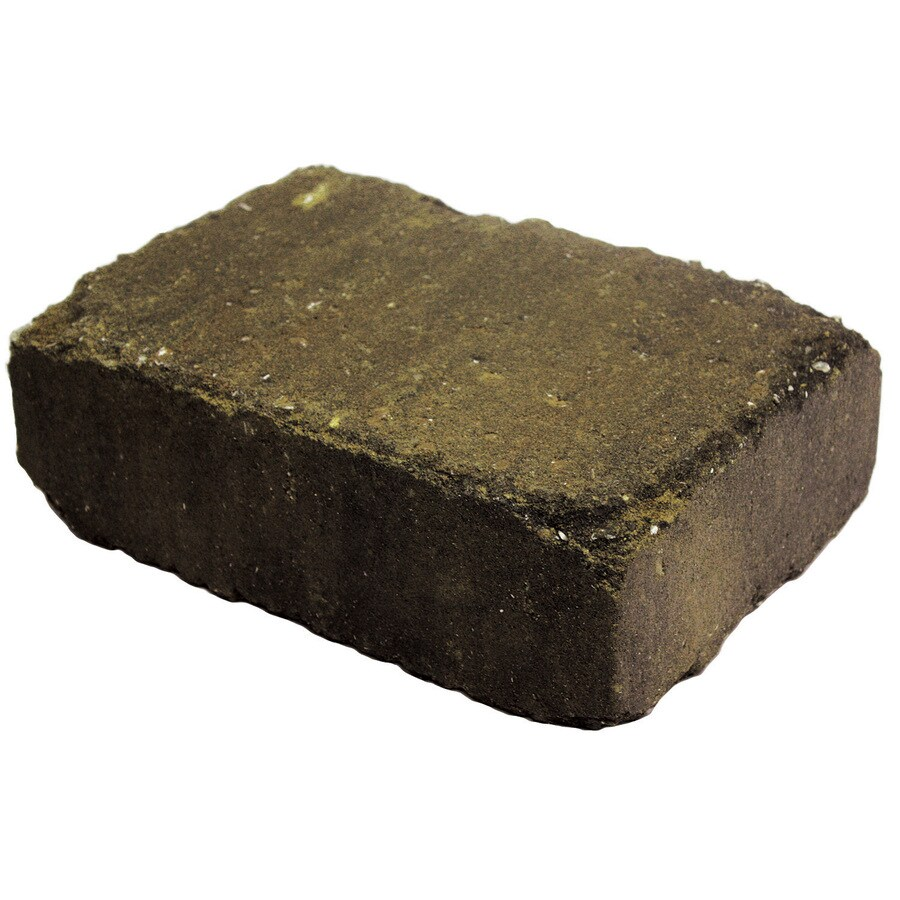 Country Stone Tan/Black Retaining Wall Block (Common: 4-in x 12-in; Actual: 3.7-in x 11.2-in)