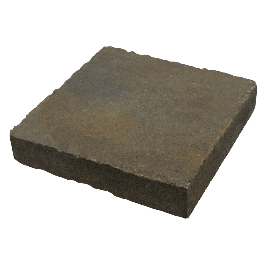 Country Stone Tan/Black Paver (Common: 12-in x 12-in; Actual: 11.7-in x 11.7-in)
