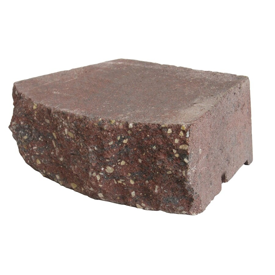 Country Stone Red/Black Retaining Wall Block (Common: 4-in x 12-in; Actual: 3.5-in x 11.5-in)