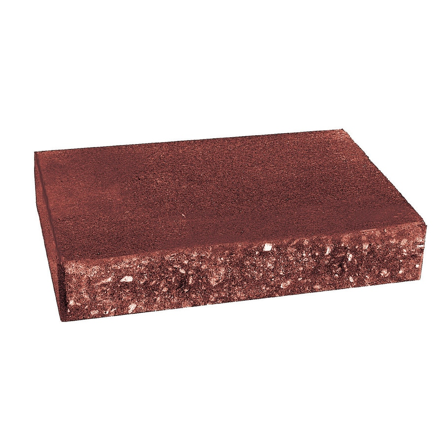 Country Stone Red/Black Retaining Wall Cap (Common: 2-in x 12-in; Actual: 2-in x 12-in)
