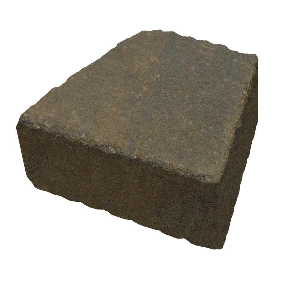 Country Stone Tan/Black Retaining Wall Block (Common: 4-in x 9-in; Actual: 3.7-in x 9-in)