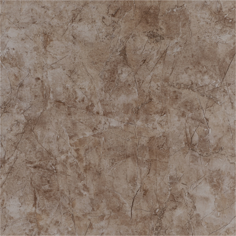 Style Selections Brown Ceramic Marble Floor Tile (Common: 17-in x 17-in; Actual: 17.26-in x 17.26-in)