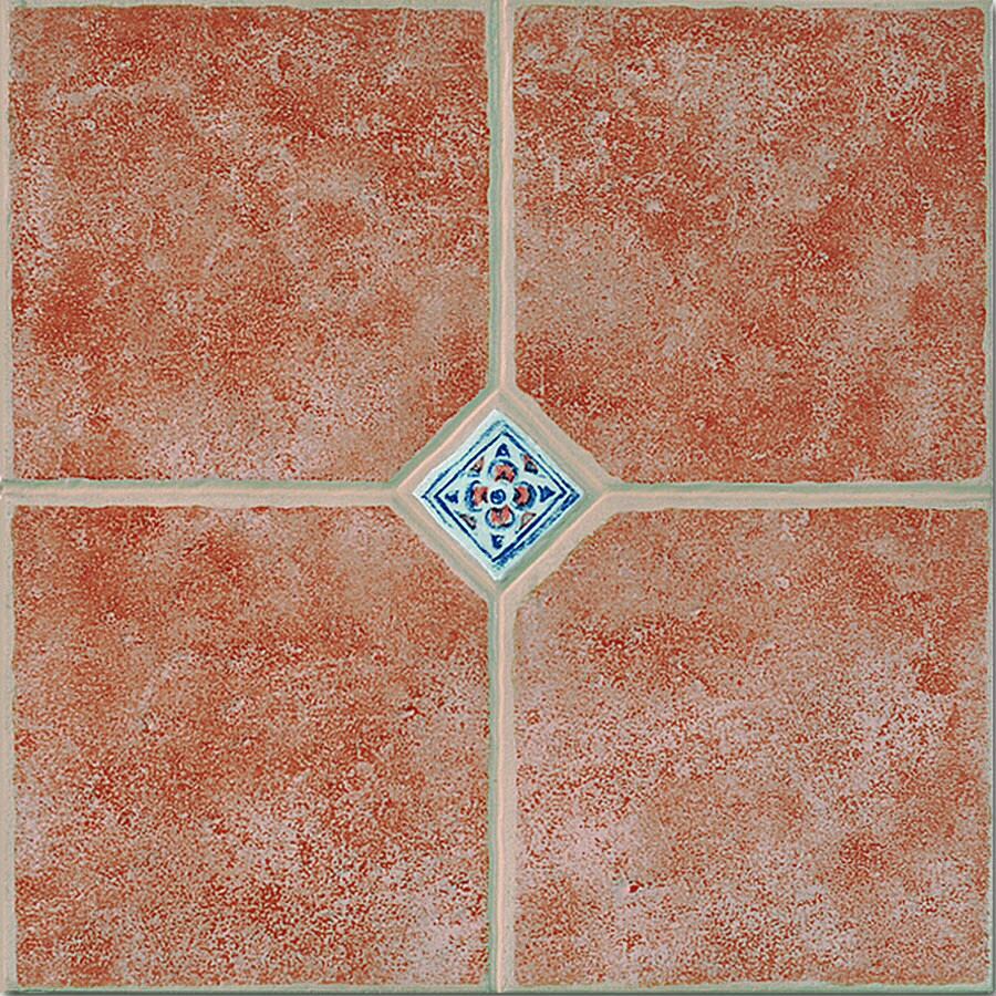 Porcelanite Porcelanite Red Ceramic Floor Tile (Common: 13-in x 13-in; Actual: 13.07-in x 13.07-in)