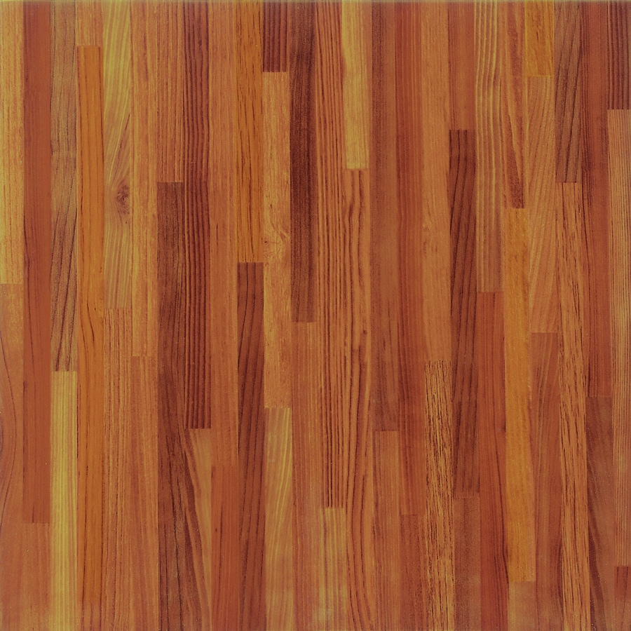 Shop porcelanite gunstock wood look ceramic floor tile common 17 in x 17 in actual Wood tile flooring