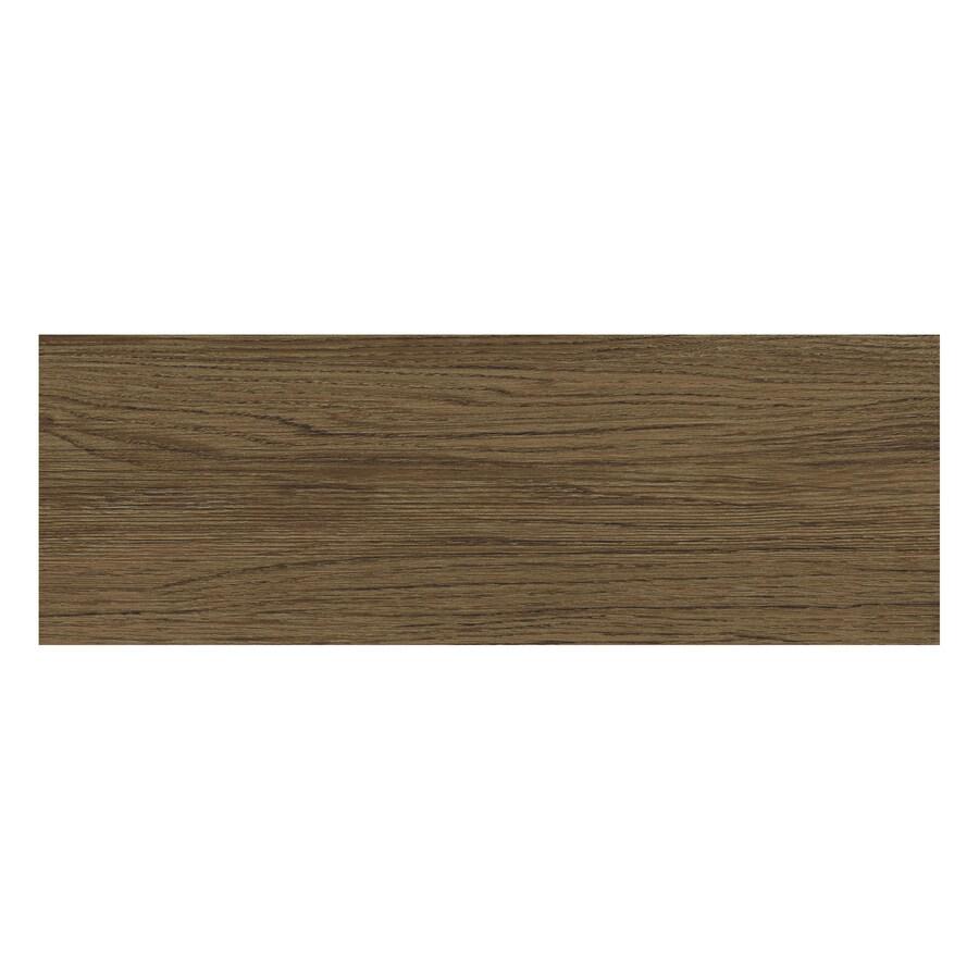 Porcelanite Brown Wood Look Ceramic Floor Tile (Common: 7-in x 22-in; Actual: 7-in x 21.3-in)
