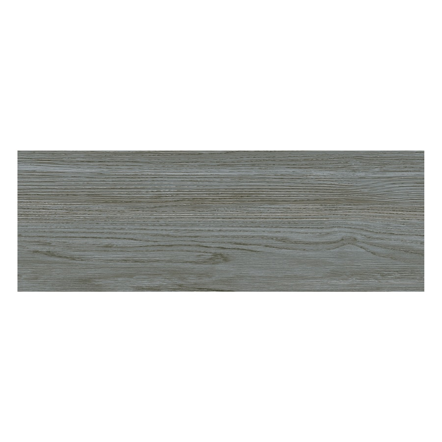 Porcelanite Grey Wood Look Ceramic Floor Tile Common 7 In X 22