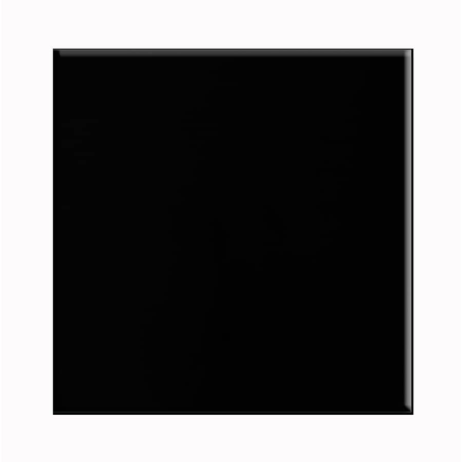 Porcelanite 15-Pack Black Ceramic Floor Tile (Common: 12-in x 12-in; Actual: 11.92-in x 11.92-in)