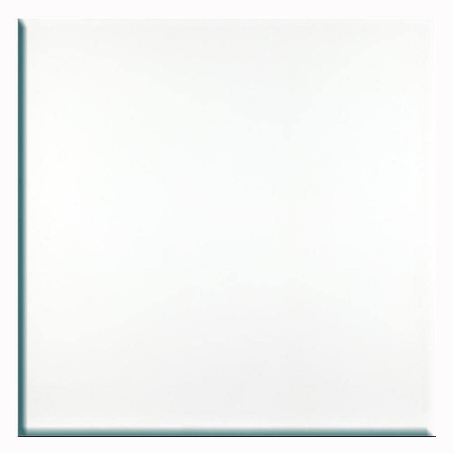 Porcelanite 15 Pack White Ceramic Floor Tile (Common: 12 In X 12