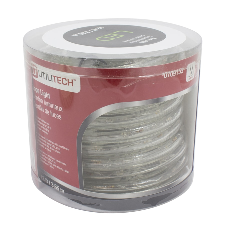 Shop rope lights at lowes utilitech 12 ft led warm white rope light aloadofball Choice Image