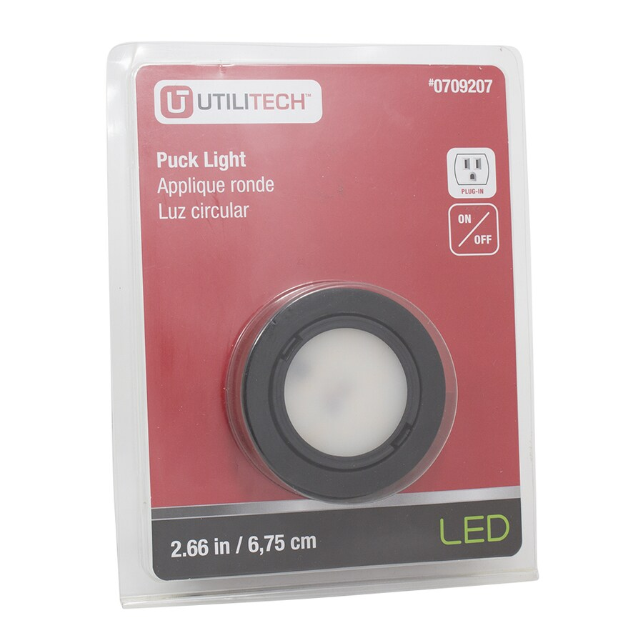 Utilitech 2.66-in Plug-in Puck Light