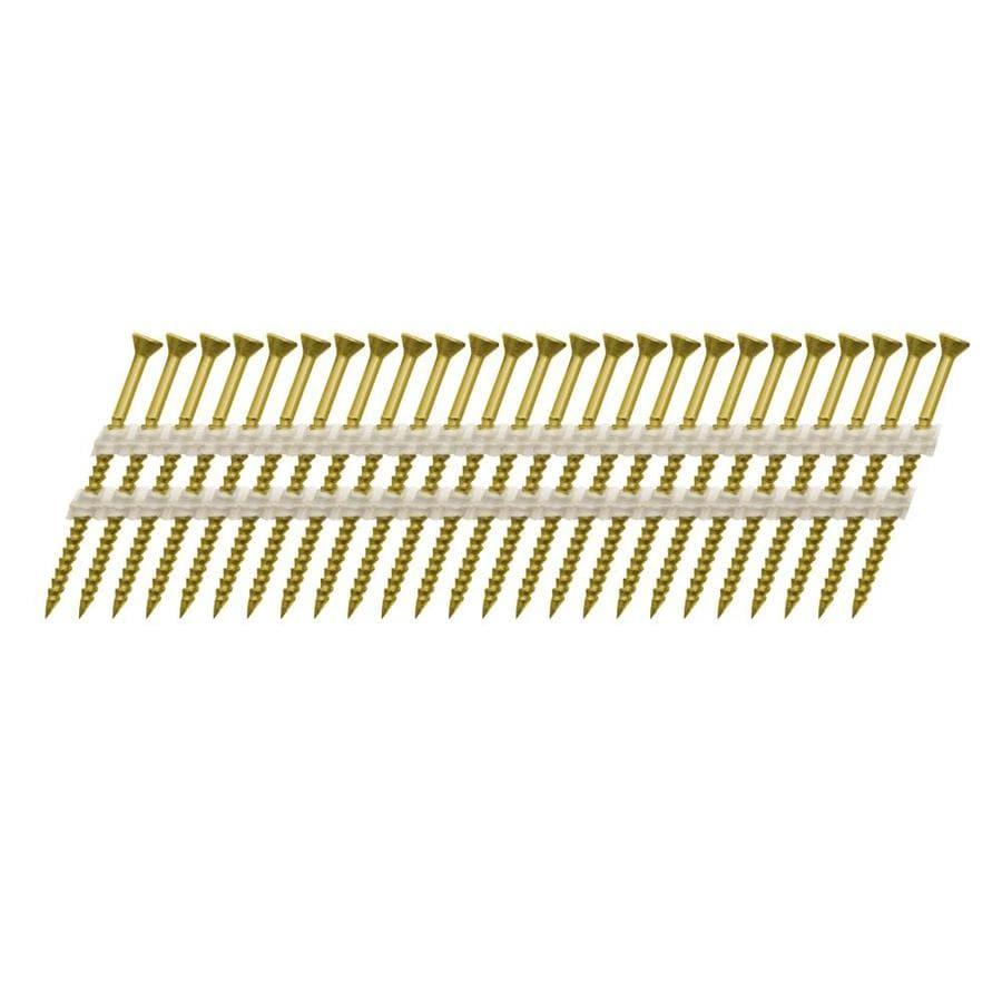 Scrail 1000-Count #0 x 3-in Square-Head Electro-Galvanized Square-Drive Interior/Exterior Wood Screws