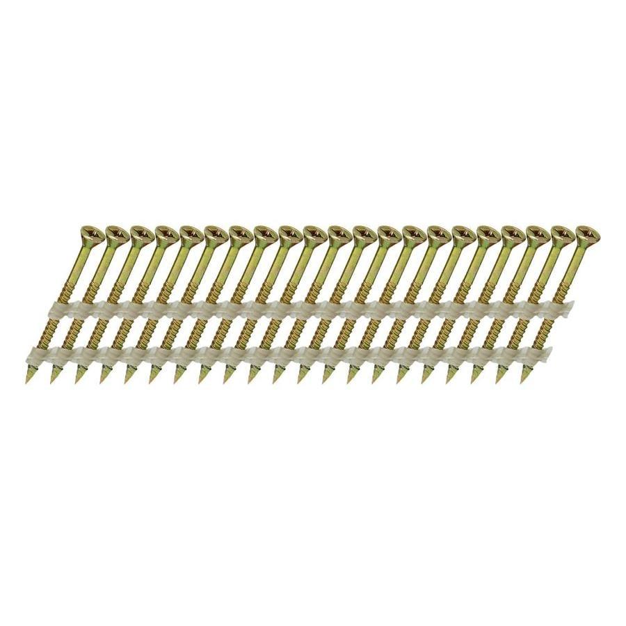 Scrail 1000-Count #0 x 2.5-in Flat-Head Electro-Galvanized Interior/Exterior Wood Screws