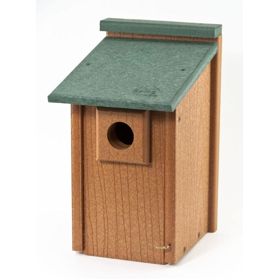 Woodlink 12 5 In H Tan Wood Bluebirds Nesting Box Bird House In The Bird Houses Department At Lowes Com