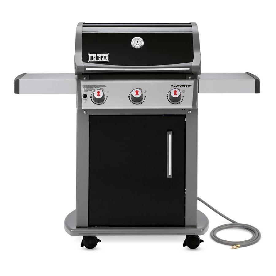 weber spirit e 310 black 3 natural gas grill at. Black Bedroom Furniture Sets. Home Design Ideas