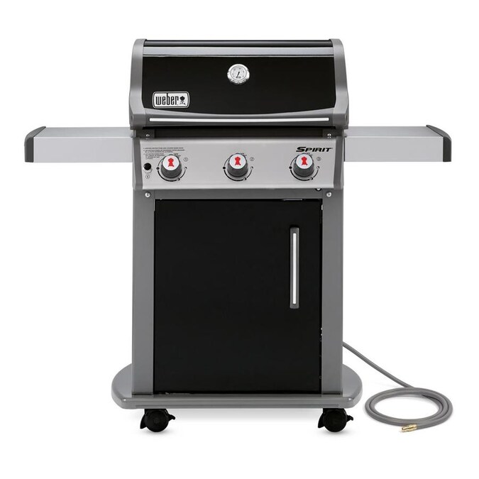 Weber Spirit E 310 Black 3 Burner Natural Gas Grill In The Gas Grills Department At Lowes Com