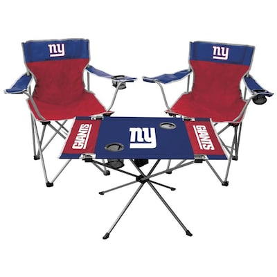 Awe Inspiring Rawlings New York Giants Folding Tailgate Set Chair At Lowes Com Ocoug Best Dining Table And Chair Ideas Images Ocougorg