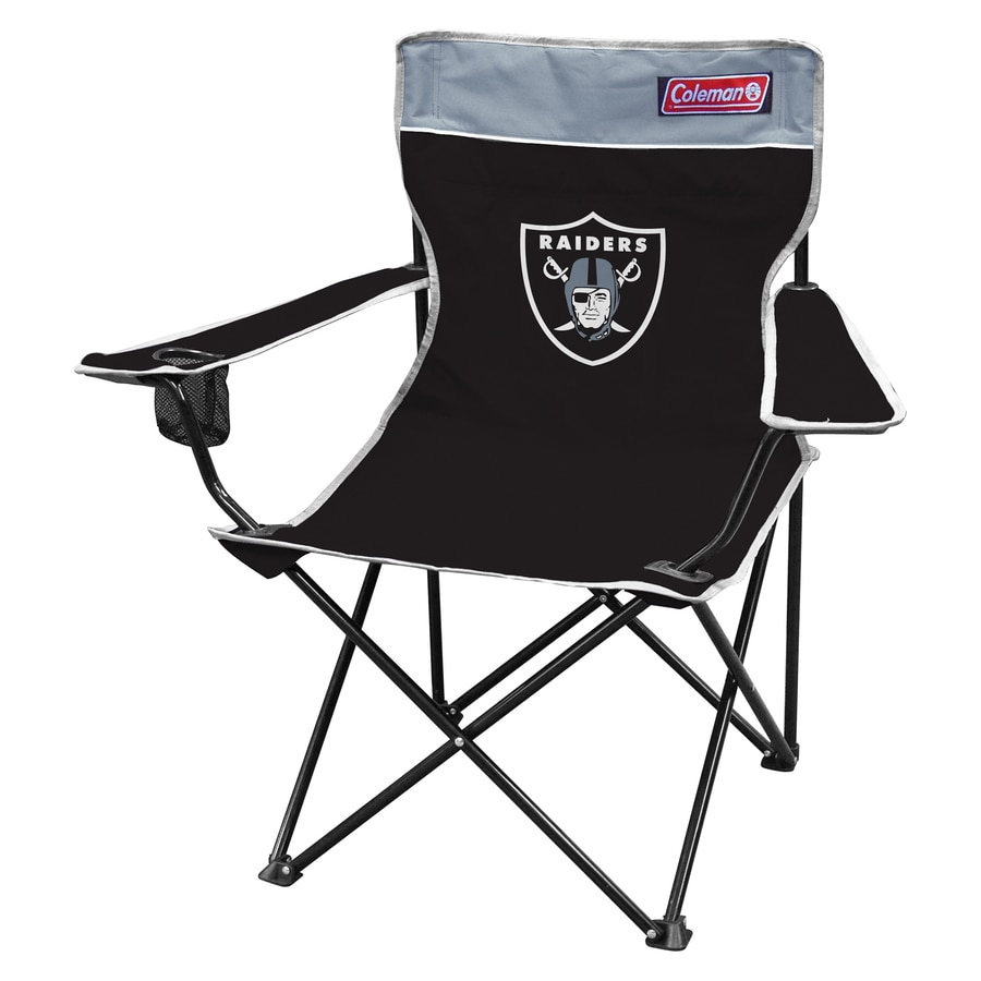 Coleman Indoor/Outdoor Steel Oakland Raiders Standard Folding Chair