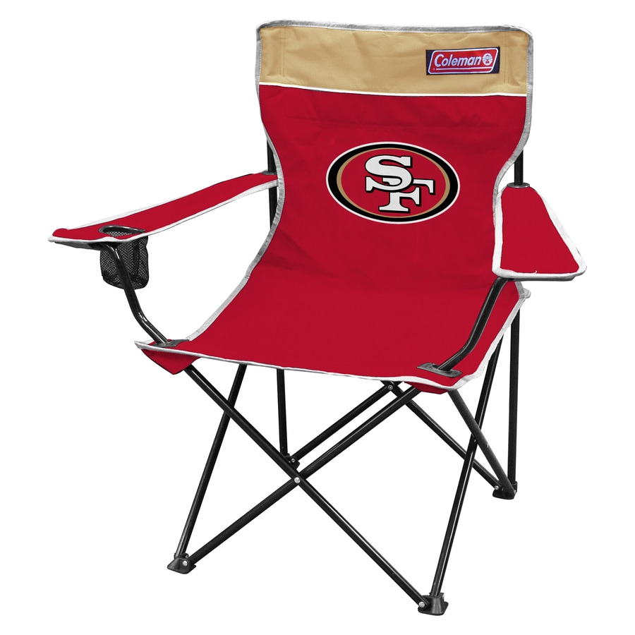 Coleman Indoor/Outdoor Steel San Francisco 49Ers Standard Folding Chair